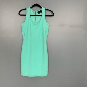 Cynthia Rowley Zipper Back Dress Turquoise XSmall